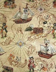 Гобелен, покрывало, Пираты, гобеленовая ткань, детское покрывало