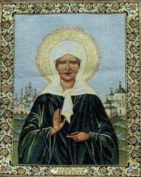 картина, гобелен, икона, Святая Матрона