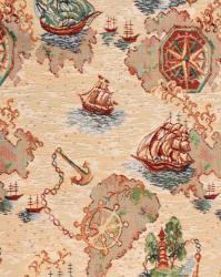 Гобелен, покрывало, кораблики, гобеленовая ткань, детское покрывало