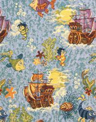 Гобелен, покрывало, Океан, гобеленовая ткань, детское покрывало