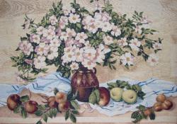 картина, гобелен, цветы, букет, натюрморт, Бабье лето