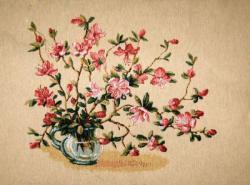 картина, гобелен, цветы, букет, натюрморт, Багульник