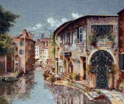 гобелен, картина, замок, город, собор, Венеция