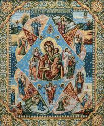 картина, гобелен, икона, Неопалимая купина