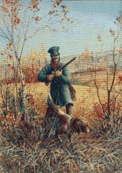 картина, гобелен, охота, Охотник