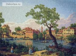 гобелен, картина, замок, город, собор, Голландский городской пейзаж, Голландия