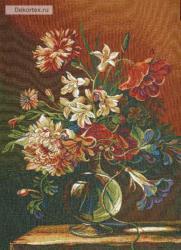 картина, гобелен, цветы, букет, натюрморт, Бадиссон