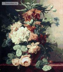 картина, гобелен, цветы, букет, натюрморт, Белая роза