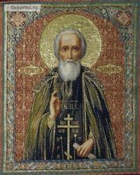 картина, гобелен, икона, Св. Сергий Радонежский