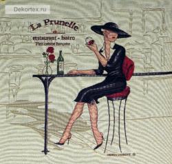 картина, гобелен, девушка, кафе, Бистро