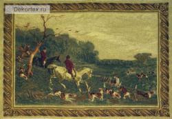 картина, гобелен, охота, лошади