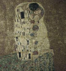 картина, гобелен, Климт, Поцелуй